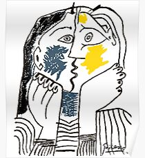 Pablo Picasso Kiss 1979 Artwork Reproduction For T Shirt, Framed Prints Poster