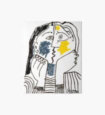 Pablo Picasso Kiss 1979 Artwork Reproduction For T Shirt, Framed Prints Art Board