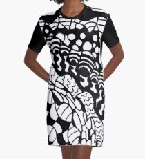Mushrooms, Snakes and Falcons  Graphic T-Shirt Dress