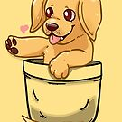Pocket Cute Golden Labrador Dog by TechraNova