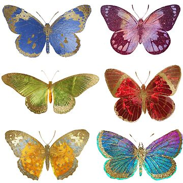 Colorful Butterflies, Watercolor Butterfly Stickers by EarthlyIndigo