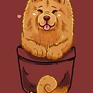 Pocket Cute Chow Chow Dog by TechraNova