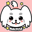 KAWAII Maltese Dog Face by TechraNova