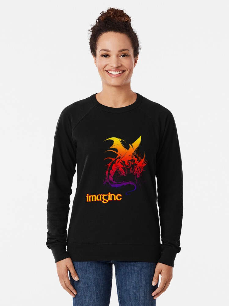 Alternate view of imagine dragons Lightweight Sweatshirt