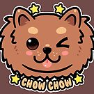 KAWAII Chow Chow Dog Face by TechraNova