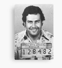 Pablo Escobar Mugshot Leinwanddruck