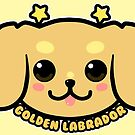 KAWAII Golden Labrador Dog Face by TechraNova