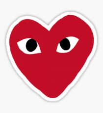 Commes Des Garcons Heart  Sticker
