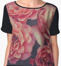 Roses in the night garden  Chiffon Top