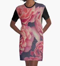 Roses in the night garden  Graphic T-Shirt Dress