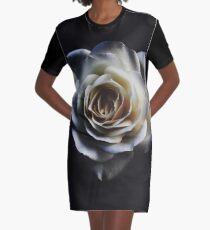 Classic white rose Graphic T-Shirt Dress
