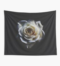 Classic white rose Wall Tapestry