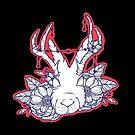«Ilustración inspirada en el tatuaje de Jackalope & Flowers» de MonJaro