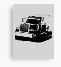 Semi Truck Canvas Print