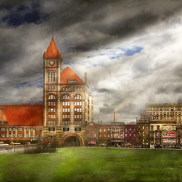 City - Chicago IL - Illinois Central depot 1900 by mikesavad