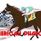 American Pharoah - Preakness 2015 by Ginny Luttrell