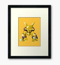 Alakazam Pokemon Simple No Borders Framed Print