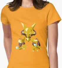 Alakazam Pokemon Simple No Borders Women's Fitted T-Shirt