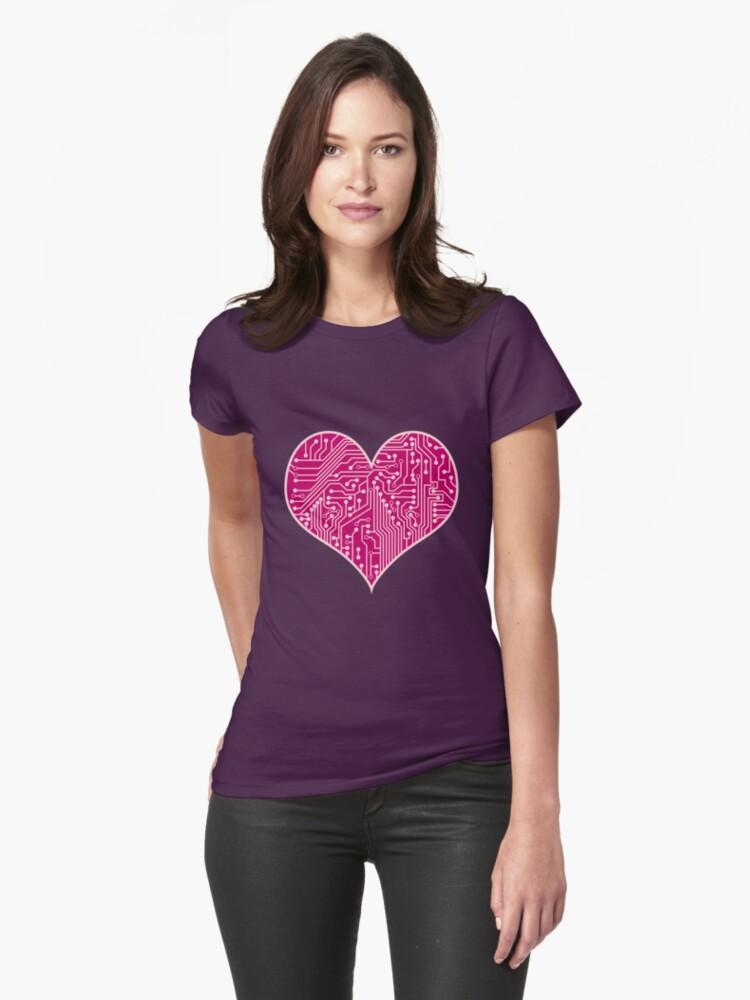 Digital Love Heart Printed Circuit Board Design by bexish
