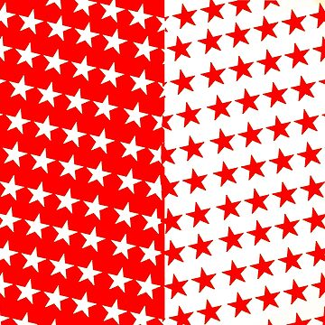 Red and White Star Leggings by catscollegecuts