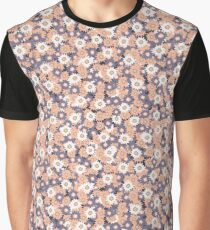 Ditsy Daisy Floral Vector Pattern Hand Drawn Graphic T-Shirt