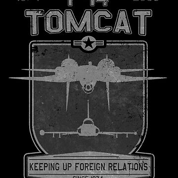 """F-14 Tomcat """"Keeping Up Foreign Relations Since 1974"""" Design by RealPilotDesign"""