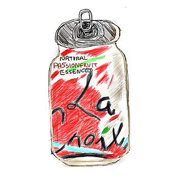 Passionfruit La Croix Drawing  by jeremiahm08