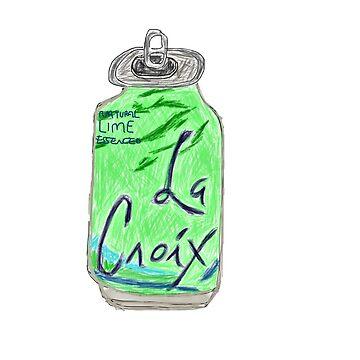 Lime La Croix Drawing by jeremiahm08