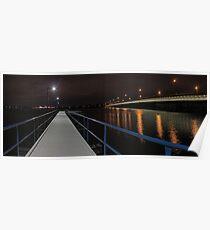 New Mount Henry Bridge Jetty - Western Australia  Poster
