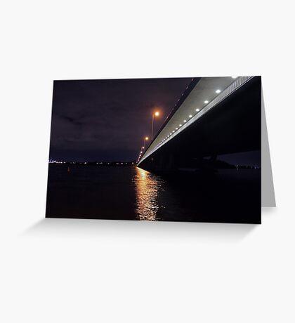Under The Mount Henry Bridge  Greeting Card