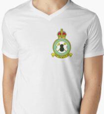 75(NZ) Squadron RAF Full Colour crest (small) Men's V-Neck T-Shirt