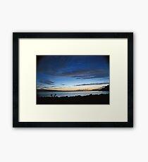 Flathead Sunset Framed Print