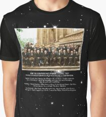1927 Solvay Conference (deep space NGC3660 bg), posters, prints Graphic T-Shirt