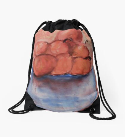 Bowl of Fruit 2, Watercolor Drawstring Bag