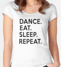Dance Eat Sleep Repeat T-Shirt Women's Fitted Scoop T-Shirt