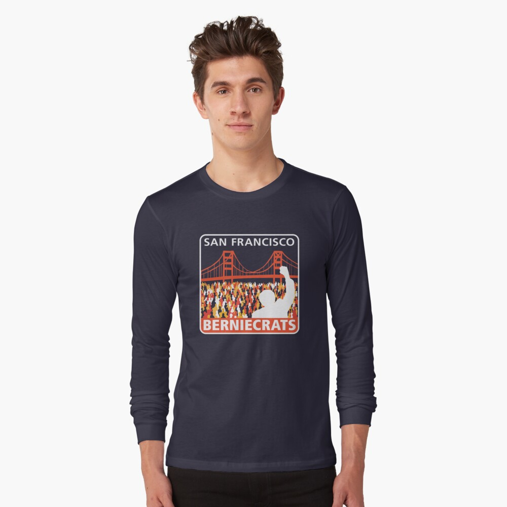 SF Berniecrats Long Sleeve T-Shirt Front