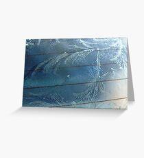 Windscreen Ice Art Greeting Card