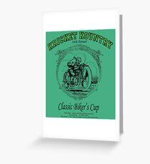 KRICKET KOUNTRY Classic Biker's Cup Greeting Card