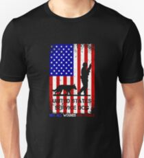 US Veteran PTSD Not All Wounds Are Visible United States Service Dog July 4th Unisex T-Shirt