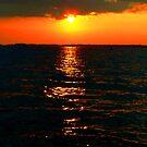 Sunset Over Lake Murray by Taylor Winn