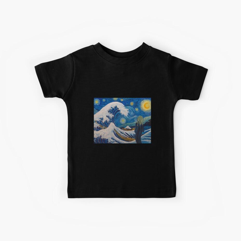 Sea Scream Ölgemälde 23 Kinder T-Shirt