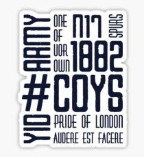 COYS YID ARMY Sticker