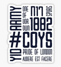 COYS YID ARMY Sticker