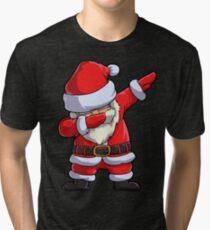 Dabbing Santa T Shirt Claus Christmas Funny Dab X-mas Gifts Kids Boys Girls Men Women Tri-blend T-Shirt