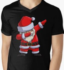 Dabbing Santa T Shirt Claus Christmas Funny Dab X-mas Gifts Kids Boys Girls Men Women Men's V-Neck T-Shirt