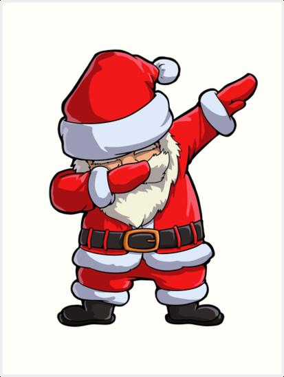 dabbing santa t shirt weihnachtsmann weihnachten lustig