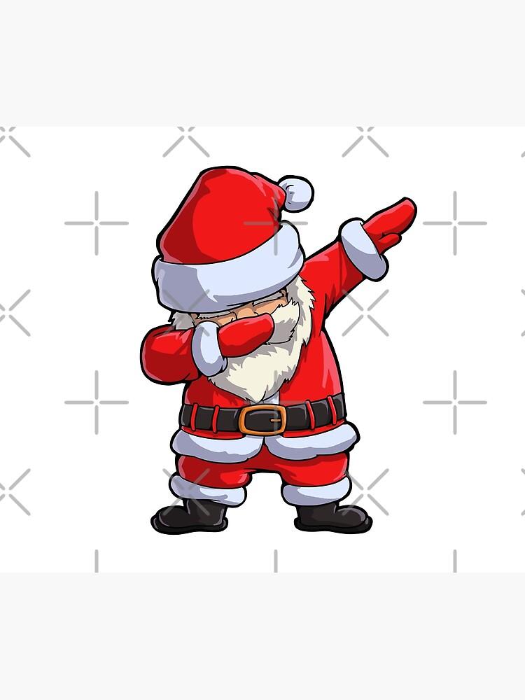 Dabbing Santa T Shirt Weihnachtsmann Weihnachten Lustig Tupfen X Mas Geschenke Kinder Jungen Mädchen Männer Frauen Bettbezug