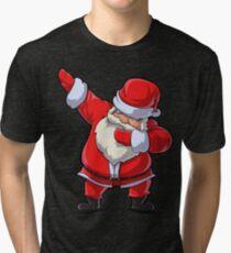 Dabbing Santa T Shirt Claus Christmas Funny Dab X-mas Gifts Kids Boys Girls Youth Tri-blend T-Shirt