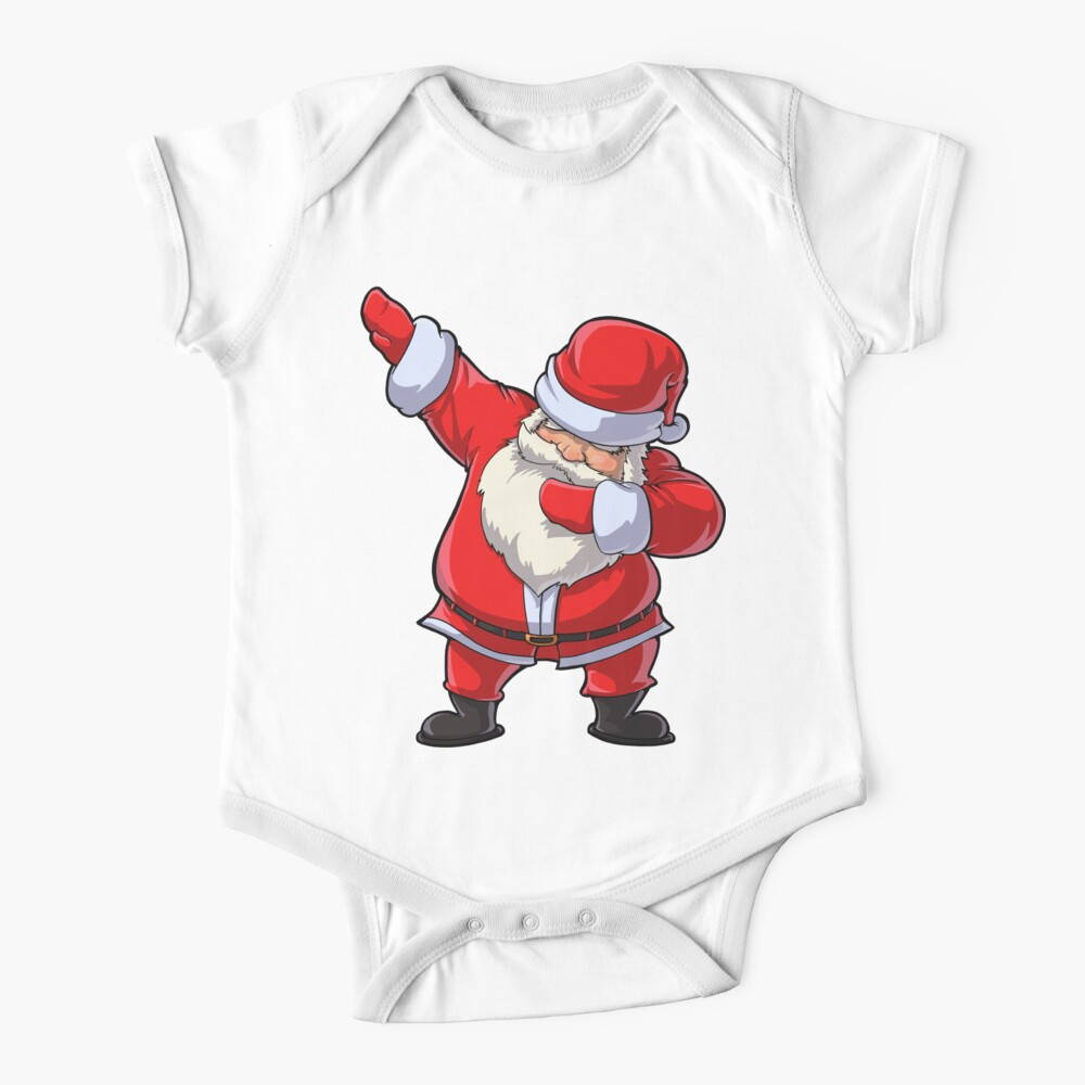 Dabbing Santa T Shirt Claus Christmas Funny Dab X-mas Gifts Kids Boys Girls Youth Baby One-Piece