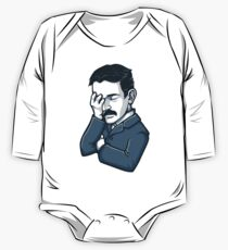 Nikola Tesla Facepalm One Piece - Long Sleeve